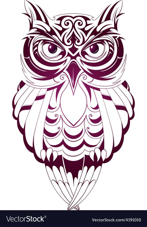 owl tattoo royalty free vector image vectorstock