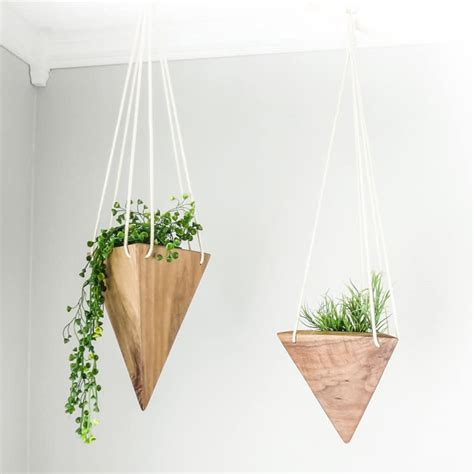 Triangular Planter by Refresh Your Space With A Modern Wooden Flower Pot