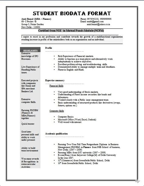 8 student personal biodata form lease template how to write biodata 11 how to write a bio data daily