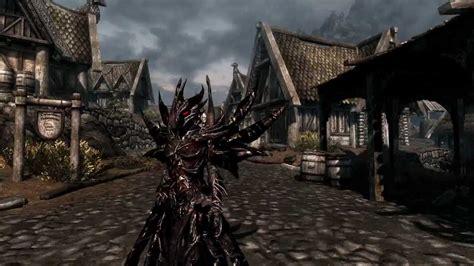 skyrim hot armor replacer tes v skyrim daedric armor mod mesh change pc youtube