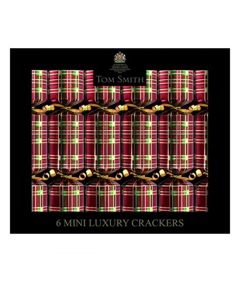 red tartan mini christmas crackers cancer research uk