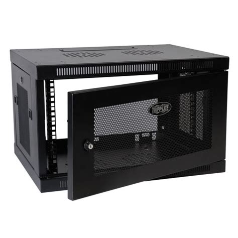 tripp lite srw6u smartrack 6u wall mount rack enclosure