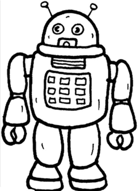red robot coloring page pictures of robots to color az coloring pages