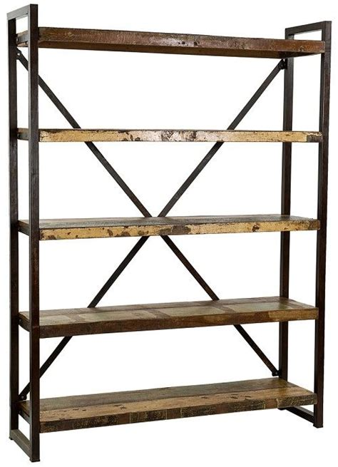 wood and iron shelves reclaimed wood and iron display shelf p1insp