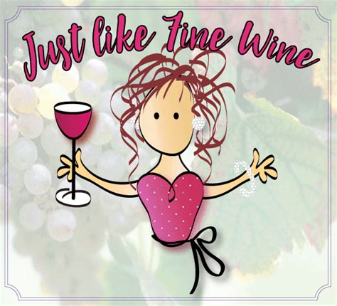 wine birthday gif happy birthday wishes wife funny lovely gift with happy