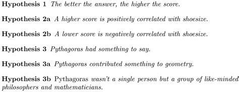 hypothesis examples alisen berde