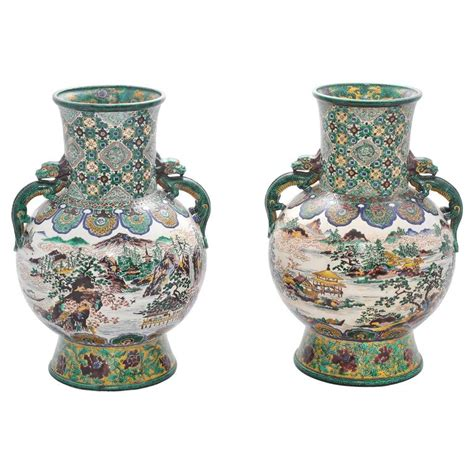 large pair of 19th century kutani vases for sale at 1stdibs