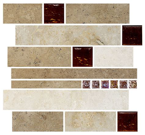 kitchen backsplash sheets travertine subway brown glass kitchen backsplash tile 12