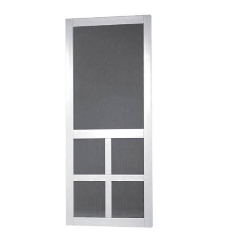 36 X 80 Vinyl Screen Door by Screen Tight 36 In X 80 In Lafayette Vinyl White Wide