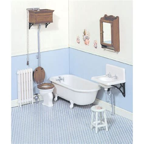 miniature dollhouse bathrooms dollhouse miniature victorian bathroom chrysnbon 174 kit