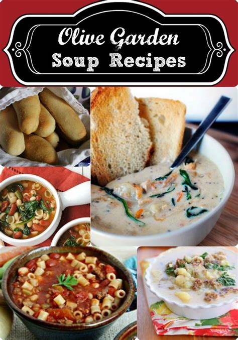 olive garden 10 olive garden soup recipes copycat recipes even the bread sticks