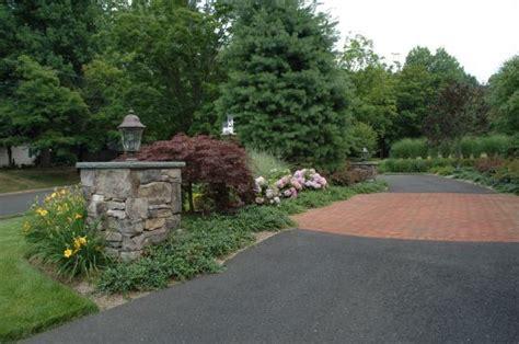 Driveway Entrance Landscaping Ideas Driveway Entrance Landscaping Ideas New Jersey Custom Stonework Outdoor Landscape Design