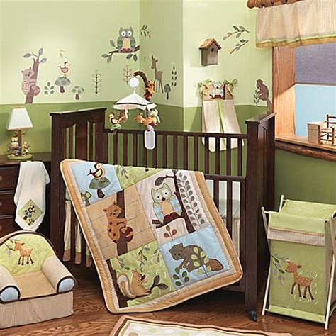 forest crib bedding lambs ivy 174 enchanted forest crib bedding collection