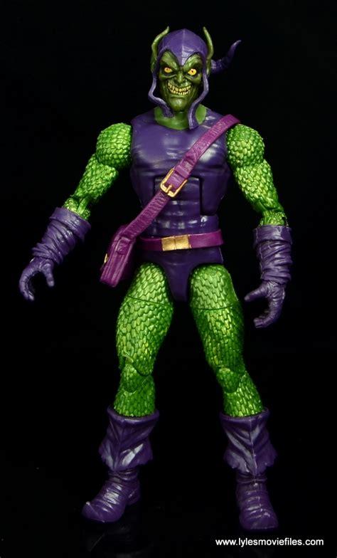 goblin film review marvel legends green goblin figure review baf sandman wave