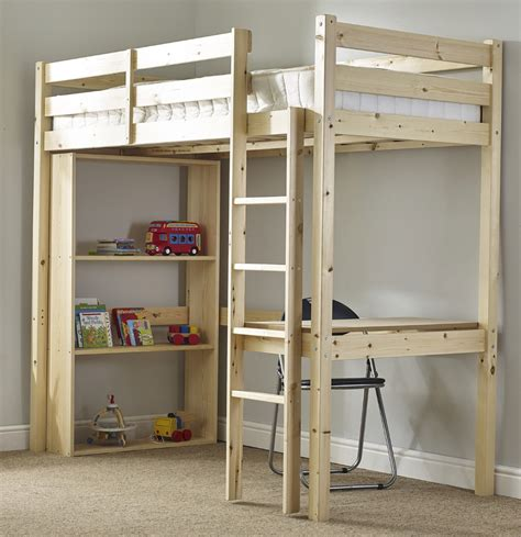 single bunk bed with desk icarus 3ft single high work station bunkbed with chair