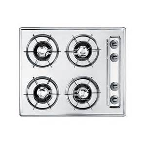 24 in gas cooktop summit appliance 24 in gas cooktop in chrome with 4