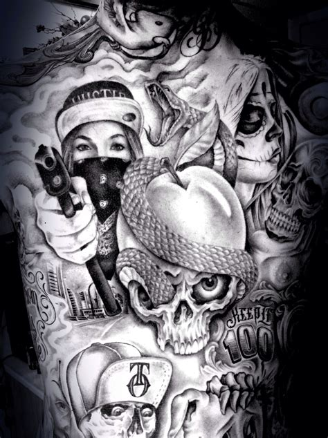 tattoo ideas gangster pin by dubs banger on tatted up