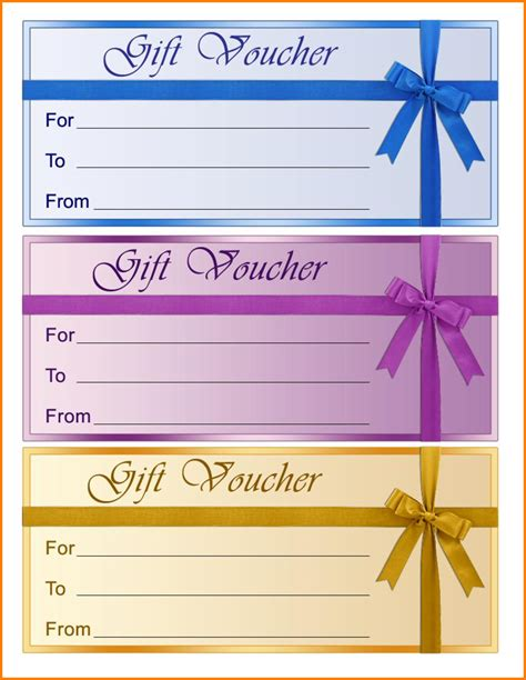 voucher templates free printable format sles of gift voucher and certificate