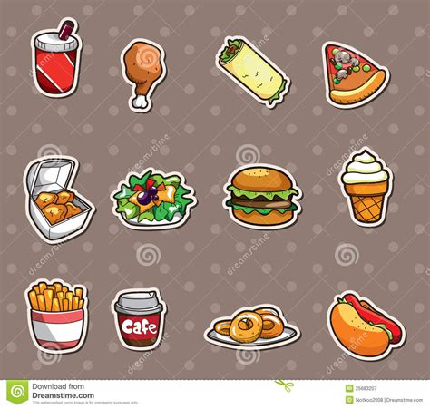 Kitchen Design Tool fast food stickers royalty free stock photography image