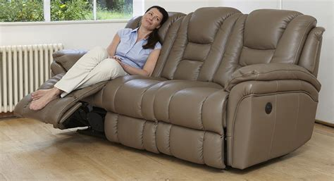 superior 3 seater electric double recliner sofa