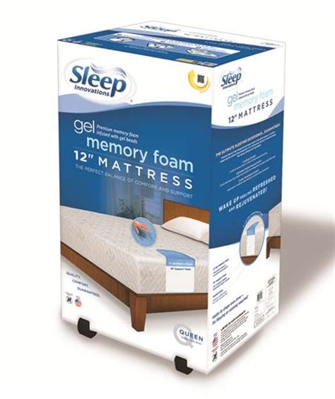 Bed In A Box Memory Foam Mattress kohl s and sleep innovations partner to bring you