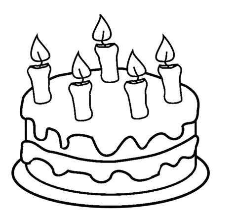Cake Color Page cakes coloring pages