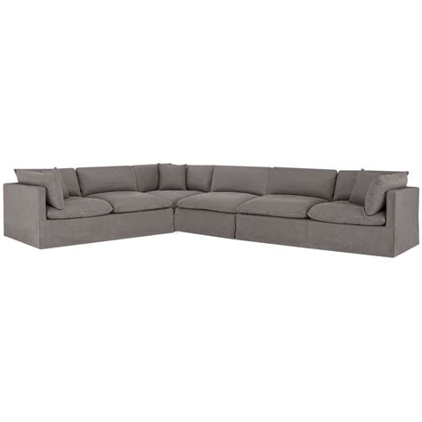large gray sectional city furniture raegan gray fabric large two arm sectional