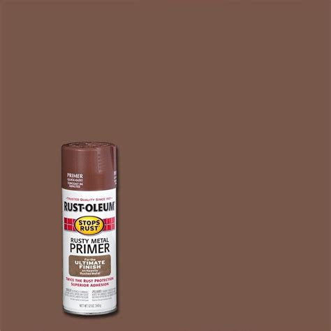home depot spray paint and primer rust oleum stops rust 12 oz flat metal spray primer