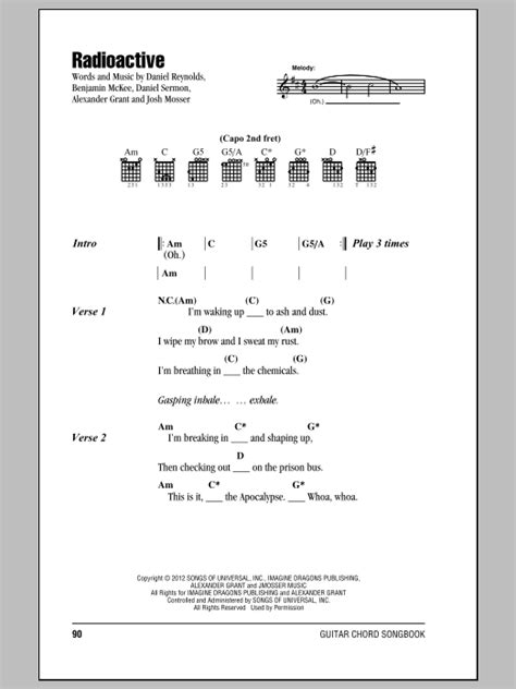 printable radioactive lyrics radioactive sheet music by imagine dragons lyrics