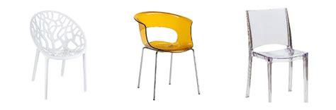 sedie plastica trasparenti dalani sedie di plastica praticit 224 indoor e outdoor