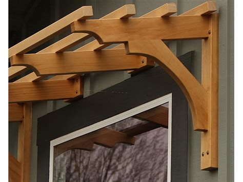 Wood Arbor Brackets 80 Degree Window Bracket And Support For Shade Trellis
