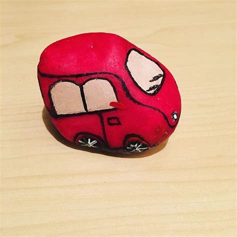 images  painted rocks vehicles  trailers  pinterest