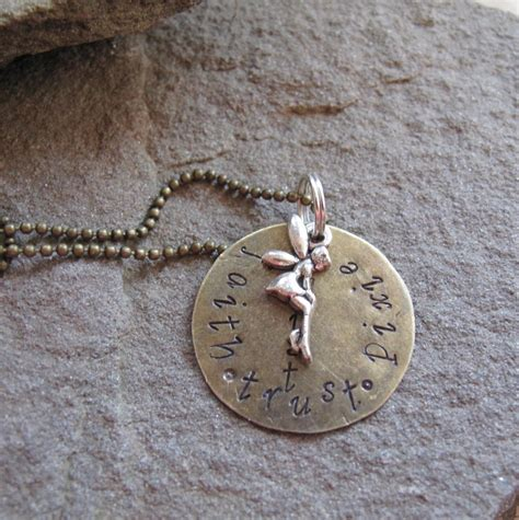 faith trust pixie dust necklace tinker bell inspired