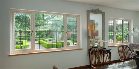 cream leaded upvc windows cream french doors  clearview