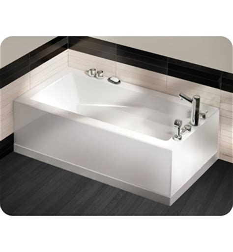 2 sided bathtub oceania sl6601 sfl soliste two sided skirt customizable bathtub front and left skirt