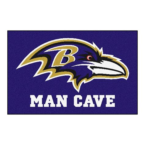 baltimore ravens rug fanmats nfl baltimore ravens purple cave 1 ft 7 in x 2 ft 6 in accent rug 14269 the