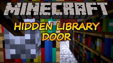 minecraft     hidden bookshelf door