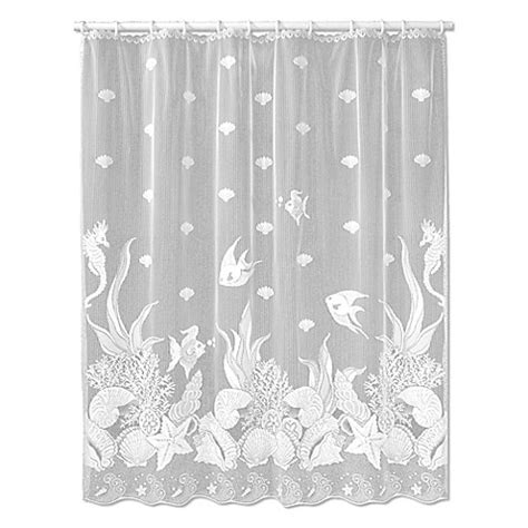 lace curtains bed bath and beyond heritage lace seascape shower curtain bed bath beyond