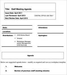 agenda for staff meeting template staff meeting agenda 7 free for pdf