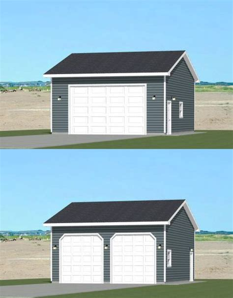 2 car garage sq ft 24x30 2 car garage pdf floor plan 720 sq ft new