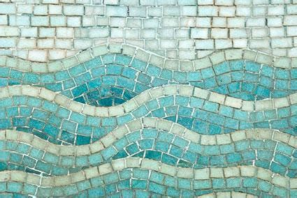 Ideas To Decorate Bathroom How To Make A Wave Mosaic Lovetoknow