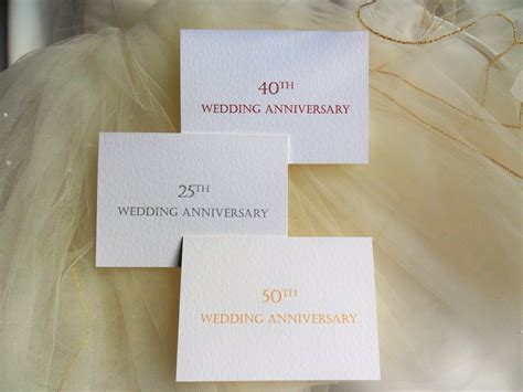 Top Ribbon Wedding Anniversary Invitations £1 each   25th