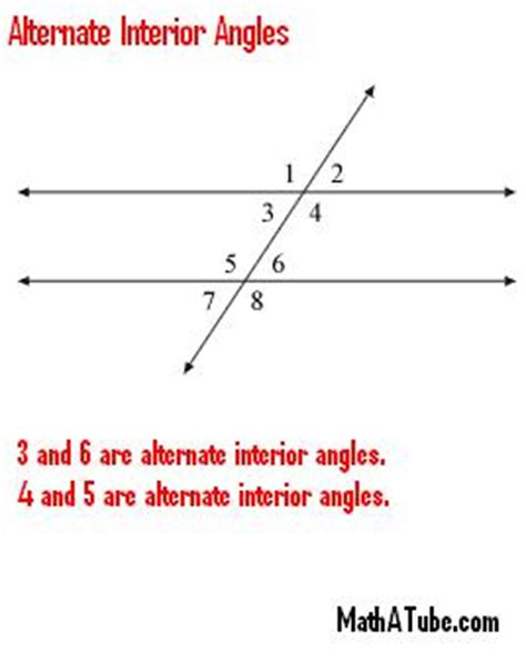 What Is A Alternate Interior Angle by Alternate Interrior Angles