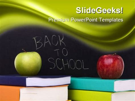Back To School Education Powerpoint Template 1110 Back To School Powerpoint Templates