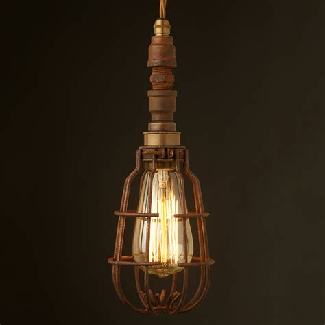 Caged Pendant Light Plumbing Pipe Caged Pendant Light