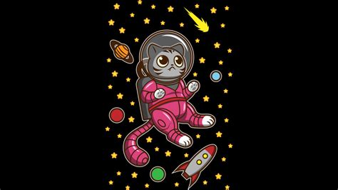 design by humans twitter kitty cat in space from design by humans day of the shirt