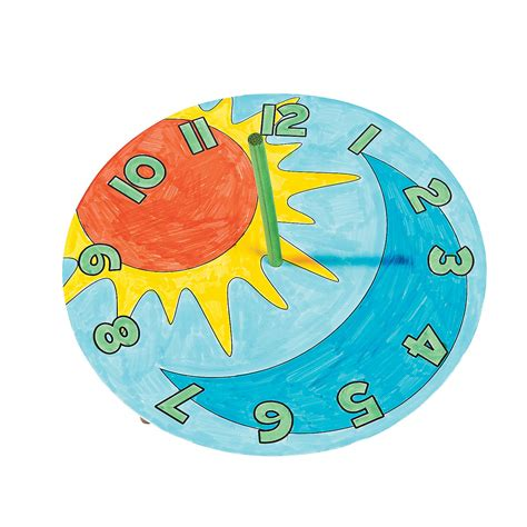 How To Make A Paper Sundial - color your own sundials coloring crafts crafts for