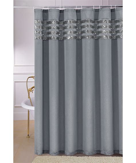 gray sequin moline shower curtain zulily