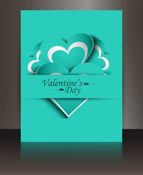 Valentines Card Landscape Templates Free by Valentines Day Card Reflection Brochure Template