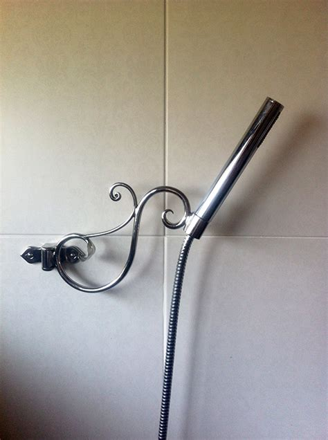 Held Shower Holder by Shower Hose Holder Forge